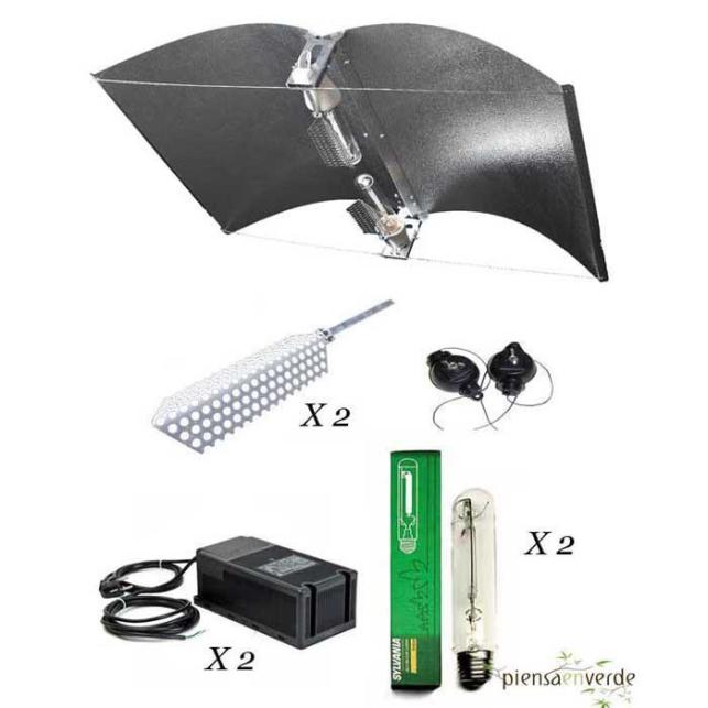 Kit de iluminación Adjust-a-wings Large PRO 2X600W Floración