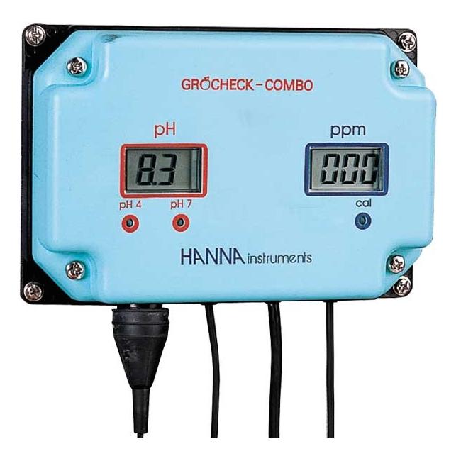 Indicador continuo de pH y EC Hanna