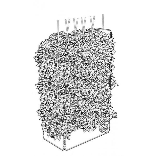 Estructura Metálica Mini Grow Bed 98x51x165cm