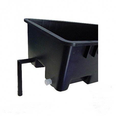 Pot for Rock Wool Slabs or Coco with Drain