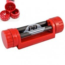 Compartment Rolling Machine + Grinder Red