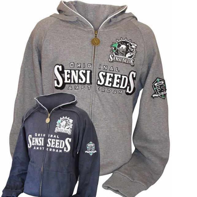 Sudadera gris Sensi Seeds 25
