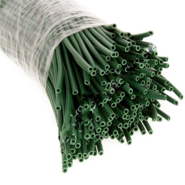 Tira plástico verde 100 uds