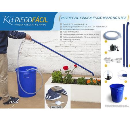 Kit de riego fácil con bomba y depósito
