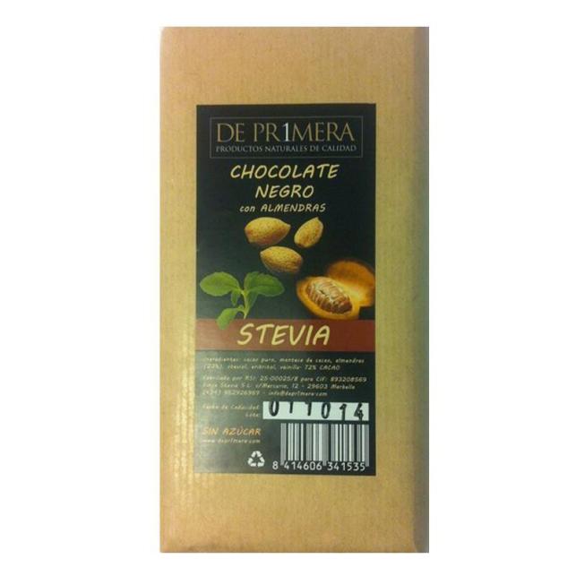 Chocolate con almendras y stevia Deprimera