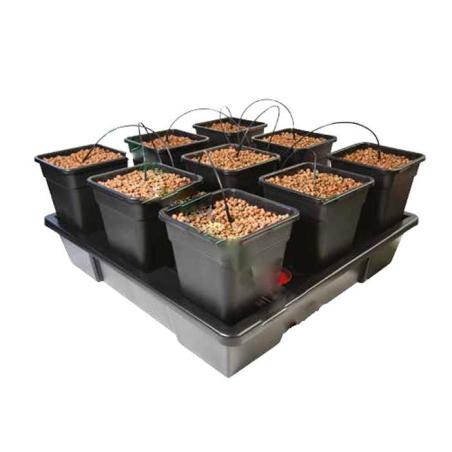 Sistema hidropónico Wilma V2 XXL (9 macetas de 18 litros)