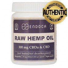 Endoca cápsulas Raw Hemp Oil 300mg CBD+CBDa