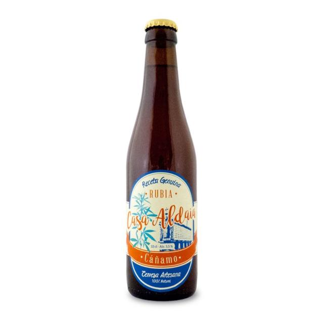 Cerveza Artesanal con cáñamo Casa Aldaia