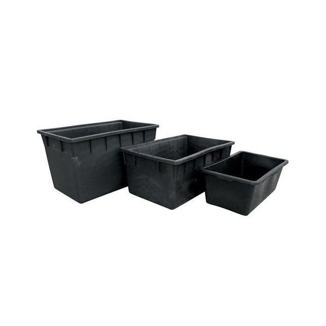 Depósito Rectangular Plástico Negro