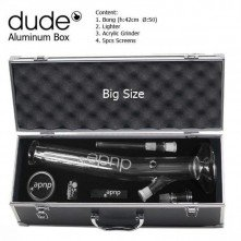 Dude Glass Bong 42cm inclined complete set
