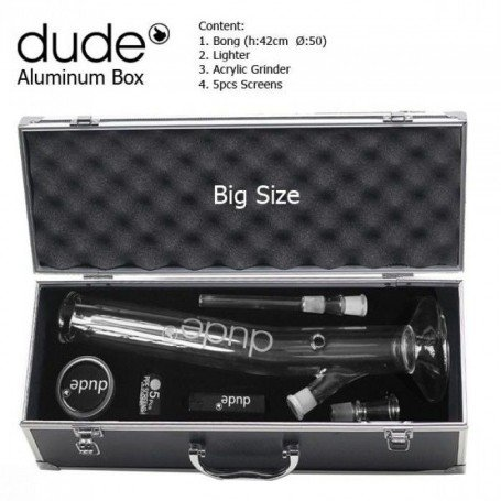 Dude verre Bong 42cm incliné set complet