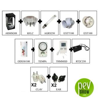 Kit de Armario de Cultivo Completo S