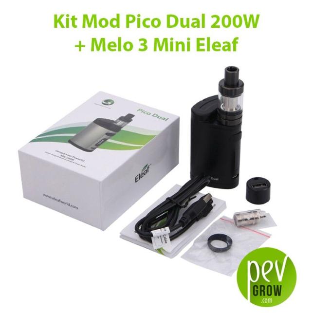 Kit Mod Pico Dual 200W + Melo 3 Mini Eleaf