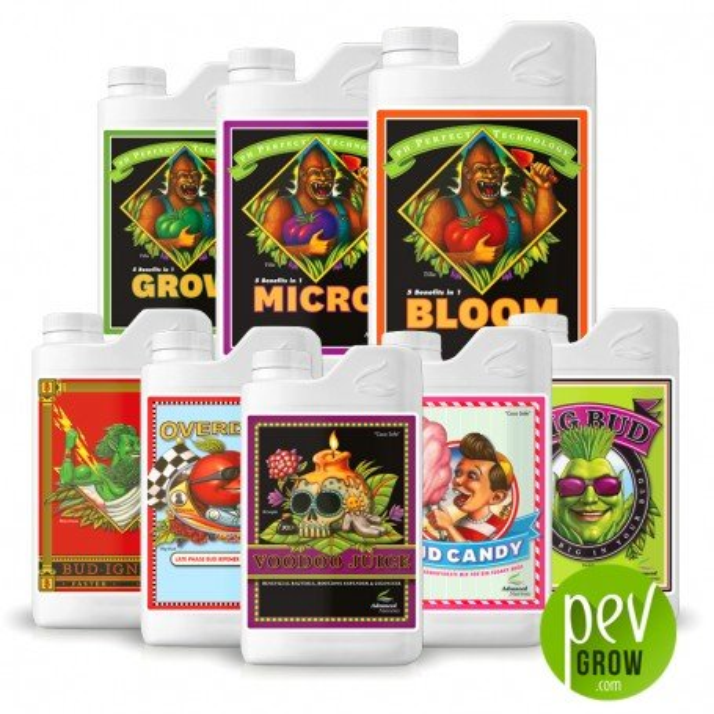 Grow-micro-bloom + aditivos Advanced