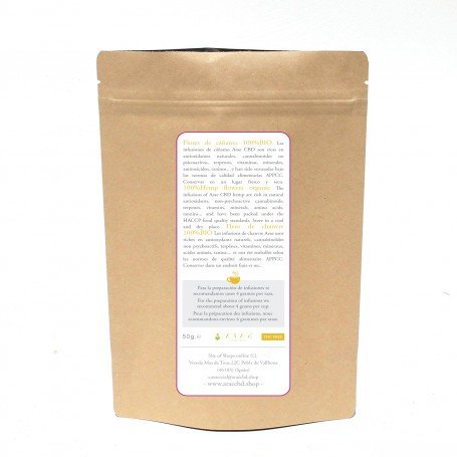 Tee aus Hanfblättern und -blüten