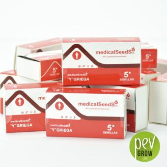 Envase protección de Medical Seeds,  Y Griega formato de 5 semillas.
