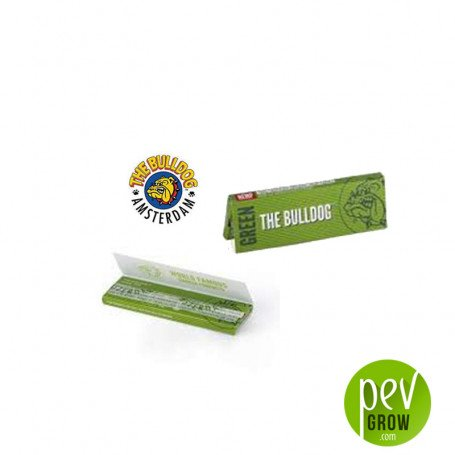Papier King Size Slim Green Hemp The Bulldog - livret simple (1 unité)