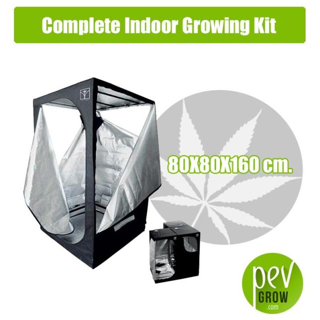 Kit Cultivo Interior Completo 80X80X160 cm.