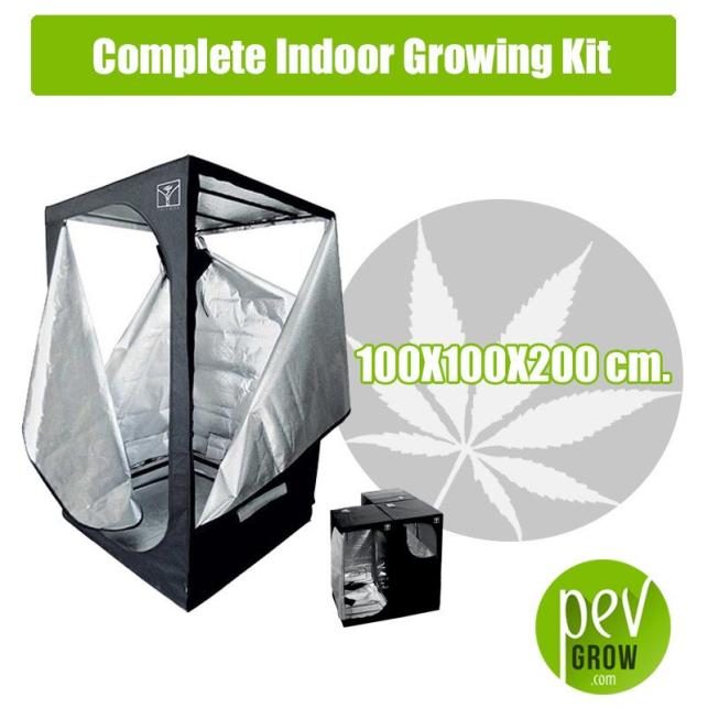 Kit Cultivo Interior Completo 100X100X200 cm.