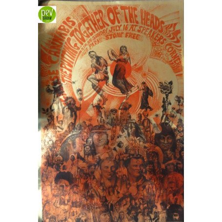 "Poster Original 1967 de Martin Sharp ""Legalise Cannabis"""