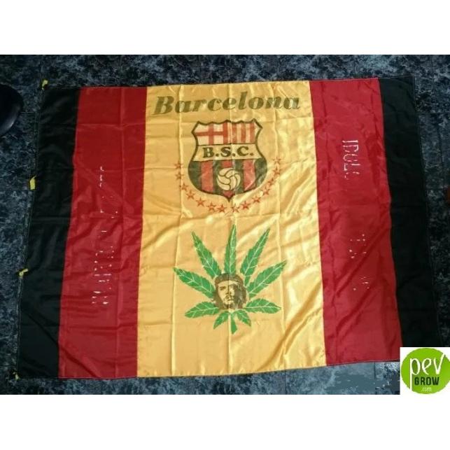 Bandera Del Barcelona Sporting Club De Guayaquil (Ecuador)