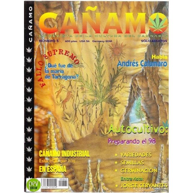 Zeitschrift Cáñamo Nº 5 (1998)