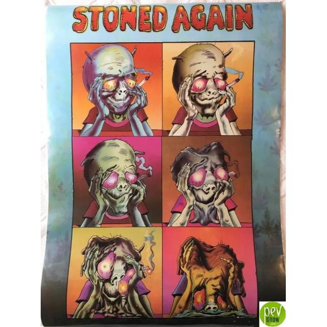Póster Stoned Again. Alien Fumado 61x43 cm