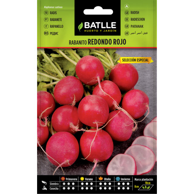 Semillas de rábano rojo 1,5 gr.