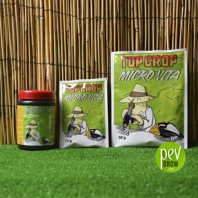 Micro Vita de Top Crop en recipientes de 15gr, 50,gr y de 150gr.