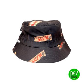 Raw Bucket Hat nero