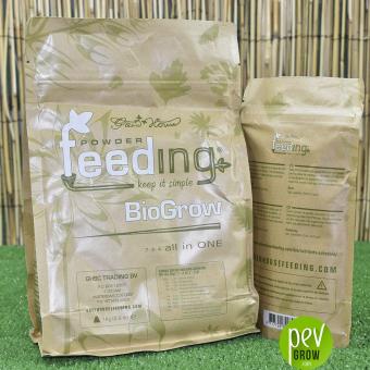 Nutriente Feeding Bio Grow en formato de 250ml en papel grueso.