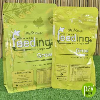 Powder Feeding Grow , nutriente mineral en su envase original.