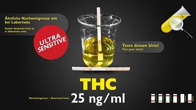 THC is positive in urine up to 15 days after the last use.