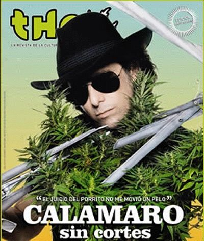 Andres Calamaro supports the legalization of cannabis