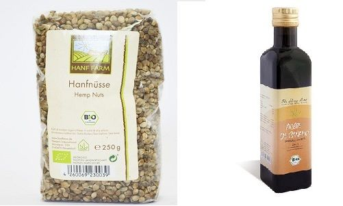 Hemp seeds unpeeled - hempseed oil