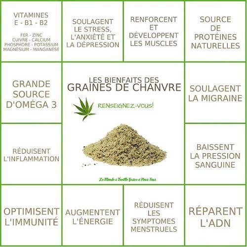 avantages nutritionnels des graines de chanvre.
