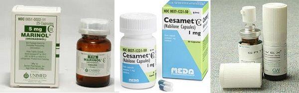 Medications made from marijuana, Marinol, Cesamet, Sativex