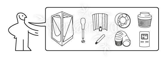 Elementos necesarios para montar un kit de cultivo de marihuana