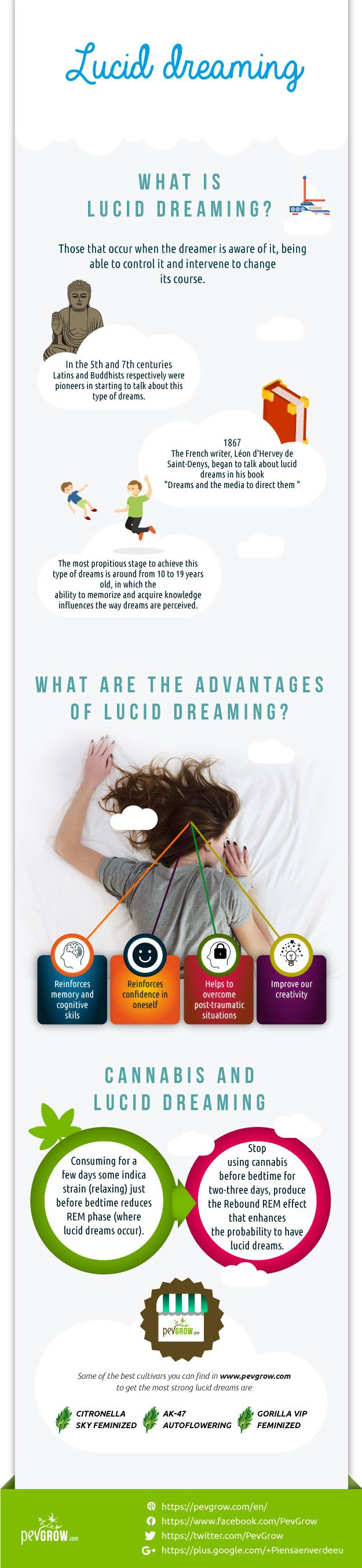 Lucid dream infographics