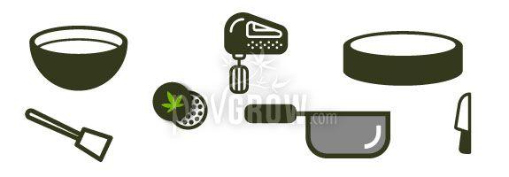 Material para hacer un bizcocho de marihuana