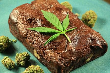 Brownie made with cannabis