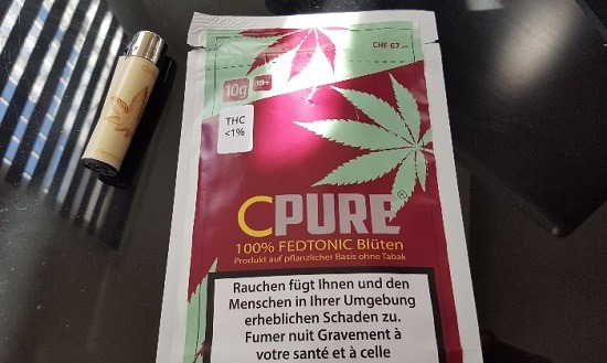 Cannabis is recognized as a substitute for tobacco in Switzerland