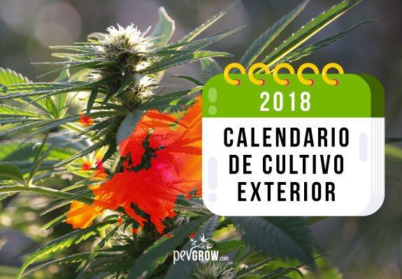 Calendario 2018 Cultivo exterior Norte y Sur de Europa