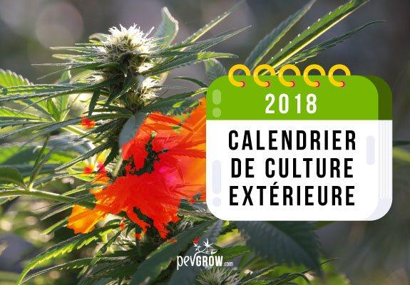 Calendrier 2018 Culture à l'extérieur Europe du Nord et du Sud