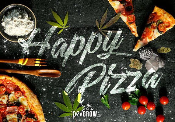 Pizza au cannabis