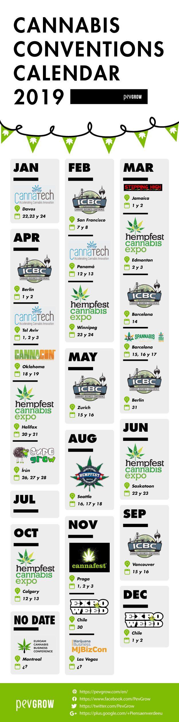 Cannabis conventions calendar 2019