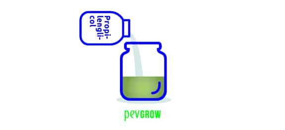 Añade 20 ml de propilenglicol mezclandolo bien