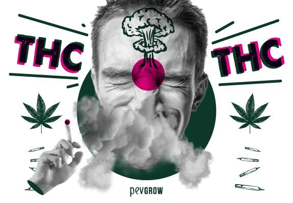 Imagen de un hombre fumando cannabis con un potente efecto potente cerebral