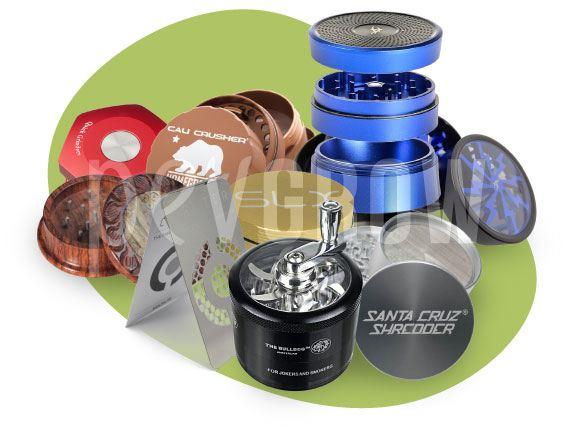 imagen de un montaje fotográfico donde aparecen varios tipos de grinder*