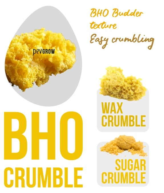 Enlarged image of a piece of BHO Crumble, Wax Crumble, Sugar Crumble*.